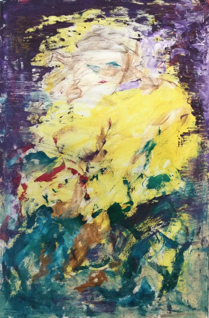 Adélaïde / Peinture Mix tech sur toile / 80 X 120