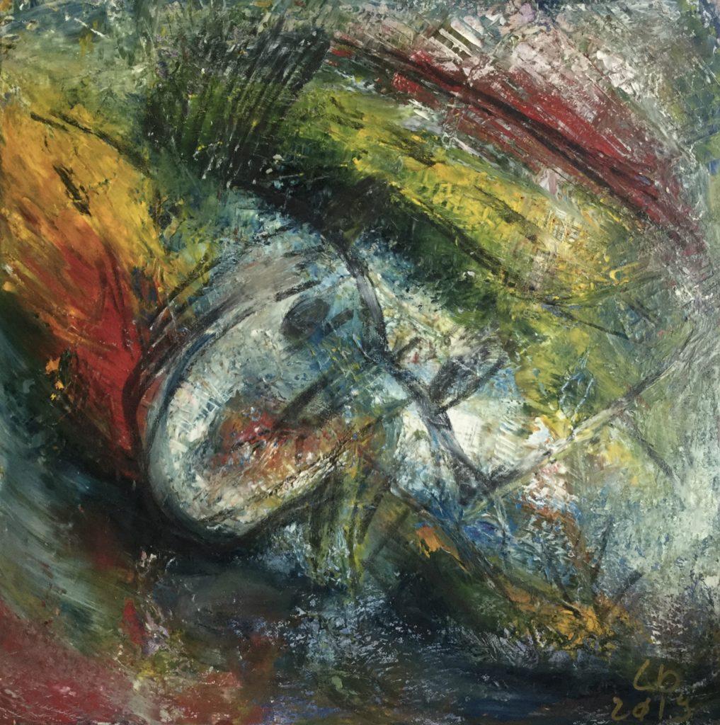 Drozaire / Peinture Mix tech sur toile / 60X60